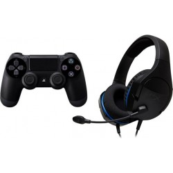 Sony PlayStation 4 DualShock 4 Controller + Kingston HyperX Cloud Stinger Core Headset