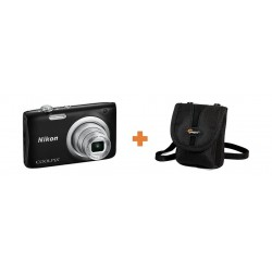 Nikon Coolpix A100 20MP Compact Digital Camera + Lowepro Rezo 10 Compact Camera Pouch