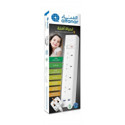 Alfanar Extension Cord 4 Outlets 2 USB 3M