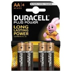 Duracell AA Plus Power Battery - 4 Batteries