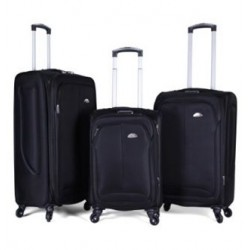 Elantra Set Of 3 Soft Luggage (97307) - Black