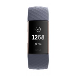 Fitbit Charge 3 Fitness Wristband (FB409RGGY-EU) - Blue Gray/Rose Gold Aluminum