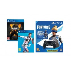 PS4 DS4 Controller + Fortnite Voucher + Call of Duty: Black Ops 4 + FIFA 19: PlayStation 4 Game