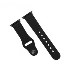 Promate Leather Strap For 42mm Apple Watch - Black
