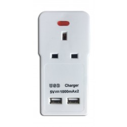 Datazone One Way Power converter with 2 USB Ports - DZ-U7007