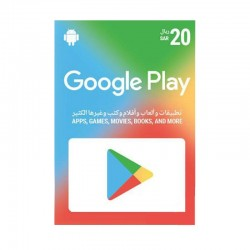 Google Play Gift Card 20 SAR (Saudi Store)