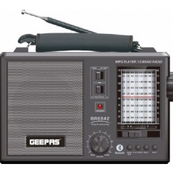 Geepas Rechargeable Bluetooth Portable Radio (GR6842)