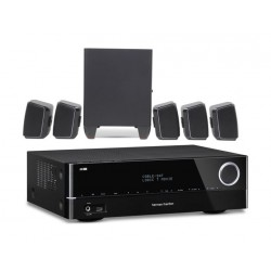 JBL Cinema 510 5.1 Home Theater Speaker System with Subwoofer + Harman Kardon 151 5.1 Channel Networked A/V Receiver