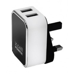 Xcell 2-Port Home Charger with MIcro-USB Cable (HC-224M) - Black