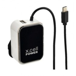 Xcell 1-USB Port With Type-C Cable (HC-225c) - Black