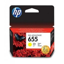 HP 655 Ink Cartridge CZ112AE - Yellow