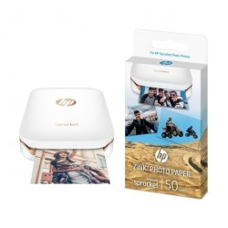 HP Zink Sticky-backed Paper 50 sheets (1RF43A) + HP Sprocket Portable Photo Printer (X7N07A)