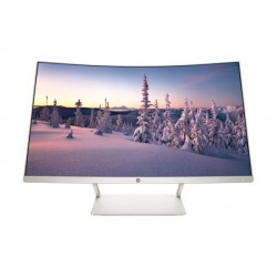 HP 27 inch Curved Full HD Desktop Monitor - White