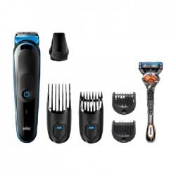 Braun Male Grooming Kit + Razor (MGK5045) - Balck \ Blue