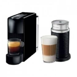 Nespresso Essenza Mini Coffee Machine + Aeroccino Bundle - Black