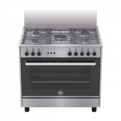 Lagermania Gas Cooker 90X60 cm (RIS95C81CX) - Stainless Steel