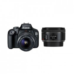 Canon EOS 4000D 18MP DSLR WiFi Camera + Canon EF 50mm f/1.8 STM Lens