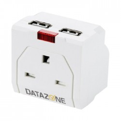 One socket adapter with two USB ports from Data Zone DZ-PS05