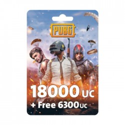 PUBG Game Point - (18000 + Free 6300 UC)