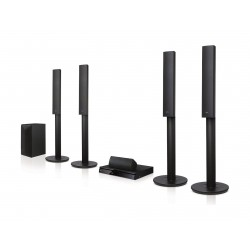 LG 1000W 5.1 Channel 3D Blu Ray Home Theater System (LHB655)