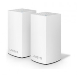 Linksys Velop AC2600 Intelligent Mesh  Dual-Band WiFi System (2-pack) - White