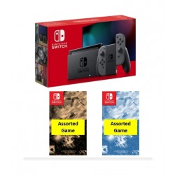 Nintendo Switch 32GB Console with 2 Assorted Games - Grey