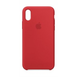 Apple Silicone Case For iPhone X (MQT52ZM/A) - Red