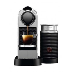 Nespresso C122SI Single Serve Coffee Maker Milk Silver -Front View