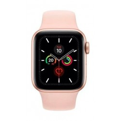 Apple Watch Series 5 GPS 44mm Gold Aluminium Case with Pink Sport Band