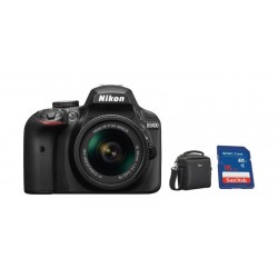 Nikon D3400 24.2MP DSLR Camera with 18-55mm Lens + 16GB Memory Card + Camera Bag