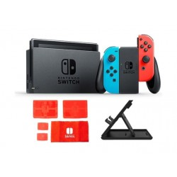 Nintendo Switch Portable Gaming System - Blue/Red + Traveler Protection Pack + Stand