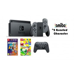 Nintendo Switch (Grey Joy-Con) Portable Gaming System with 2 Toys + Controller + Just Dance 2017 + Puyo Puyo Tetris
