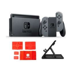Nintendo Switch Portable Gaming System Grey + Traveler Protection Pack + Stand