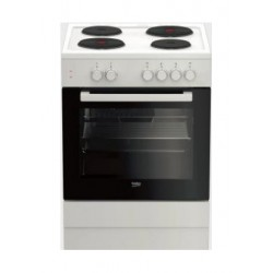 Beko 60X60 4 Burner Free Standing Electric Cooker (FSS66000GW) - White