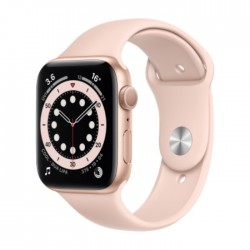 Apple Watch Series 6 GPS 44mm Aluminum Case Smart Watch - Gold / Pink
