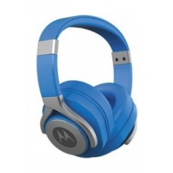 Motorola Pulse Max Wired Over-Ear Headset With Mic - Blue