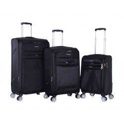 Polo Club Beverly Hills Set Of 3 Soft Luggage - Black