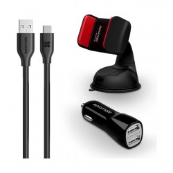 Promate AutoKit-HM Ultra-Fast USB-C Charging Car Kit - Black