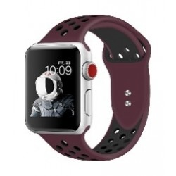 Promate Dual Toned Breathable Sporty 38mm Apple Watch Band - Maroon/Black