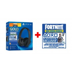 PS4 Gold Wireless Headset + Fortnite Voucher