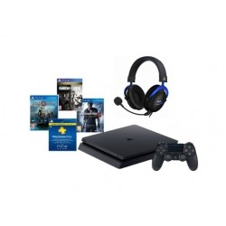 PlayStation 4 500GB + 3 Games + PSN 90 Days + Kingston HyperX Cloud PS4 Wired Headset