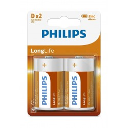 Philips Zinc Carbon Battery D2's 1.5 V (R20L2B)