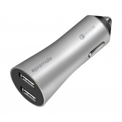 Promate Robust-QC3 Dual-USB Car Charger 4400mAh - Silver
