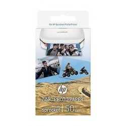 HP 1RF43A Zink Sticky-backed Paper 50 sheets - 1
