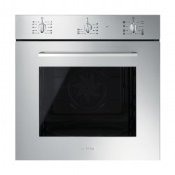 Smeg 60cm 72L Built-In Electric Oven (SF468X) – Silver