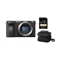Sony A6500 24.2MP Mirrorless Body Camera + 16GB Memory Card + Camera Bag