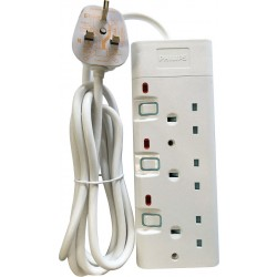 Philips 3-Sockets Power Extension 3M (SPN1932WB/56) - White