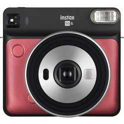 Fujifilm Instax Square SQ6 Instant Film Camera - Ruby Red
