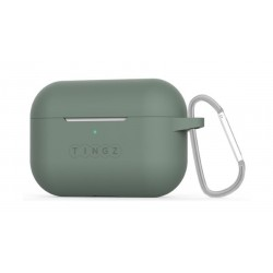 Tingz AirPods Pro Protective Silicon Case + Metal Carabiner - Green
