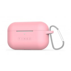 Tingz AirPods Pro Protective Silicon Case + Metal Carabiner - Pink